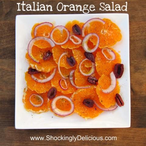 Italian Orange Salad on Shockingly Delicious.