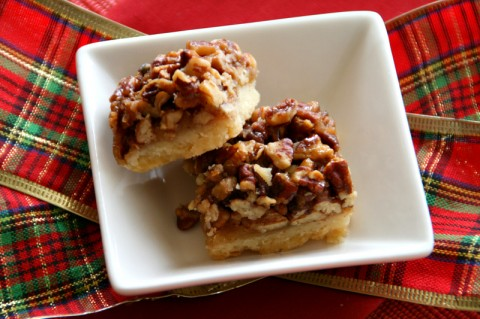 Best Ever Pecan Pie Bars. Recipe here: http://www.shockinglydelicious.com/?p=10780