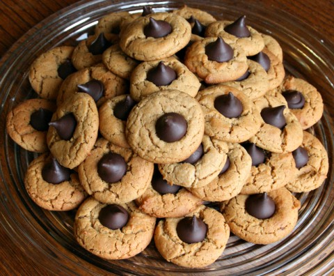 Peanut Butter Cookies with Chocolate Kisses