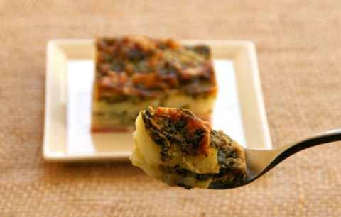 Spinach Gruyere Potato Gratin on Shockingly Delicious. Recipe here:  http://www.shockinglydelicious.com/?p=10960