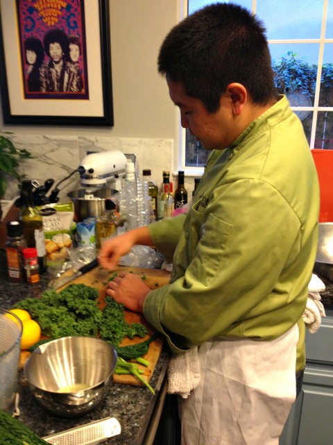 Chef Garrett Nishimori of Cut `n Clean Greens