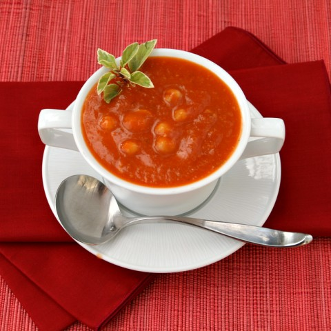 Sweet Tomato, Chickpea and Rosemary Soup on ShockinglyDelicious.com. Recipe: http://www.shockinglydelicious.com/?p=10603