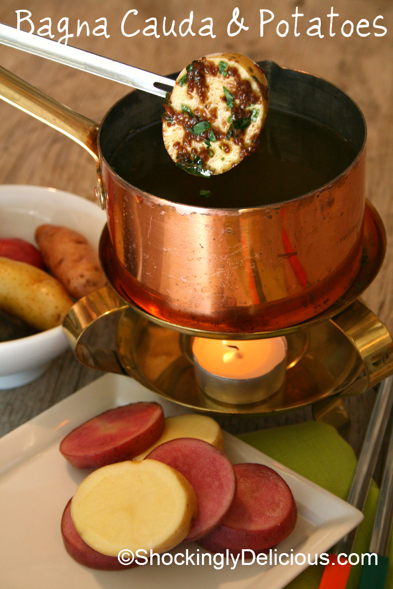 Bagna Cauda and Potatoes on ShockinglyDelicious.com
