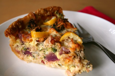 Salmon Quiche with Preserved Lemon on Shockingly Delicious. Recipe: https://www.shockinglydelicious.com/?p=11375