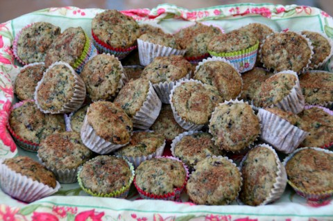 Spiced Kale Current Muffins from Cooking on the Weekends