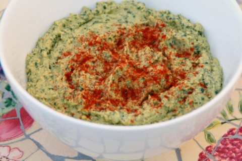 Kale and Garlic Hummus from Eating Rules