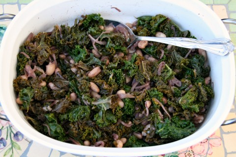 Braised Kale with Cannellini from Bumbleberry Breeze