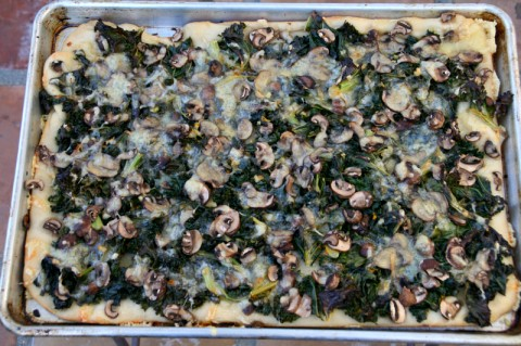 Kale Mushroom Flatbread from 2 Broads Abroad