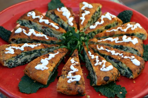 Caramelized Onion and Kale Frittata from Baking and Cake Art