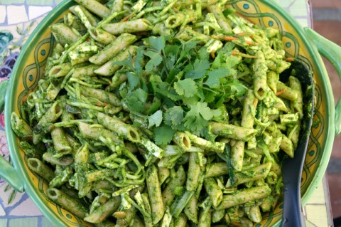 Double Kale Pesto Pasta Salad from Adventures with Nancy Rose