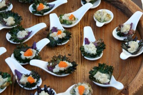 Hamachi Tartare on Fried Kale from Rustic Garden Bistro