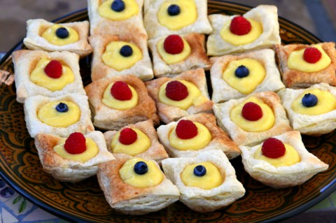 Meyer Lemon Curd Puff Pastry Tarts from Black Girl Chef's Whites
