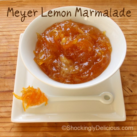 Meyer Lemon Marmalade on Shockingly Delicious. Recipe here: https://www.shockinglydelicious.com/?p=11346