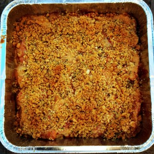 Carrot Gratin of the Gods baked and out of the oven on Shockingly Delicious