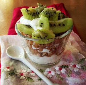 Yogurt, Farro and Fruit Breakfast Parfait on Shockingly Delicious. Recipe here: https://www.shockinglydelicious.com/?p=11665