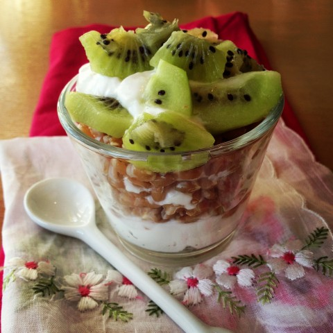 Yogurt, Farro and Fruit Breakfast Parfait on Shockingly Delicious. Recipe here: http://www.shockinglydelicious.com/?p=11665