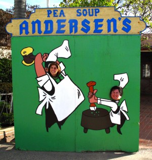 Dorothy Reinhold and Erika Kerekes at Pea Soup Andersen's