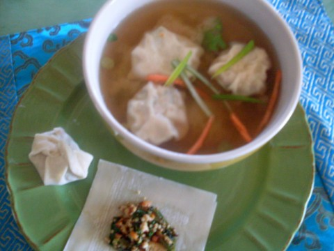 Miso Won Ton Soup from Adventures with Nancy Rose