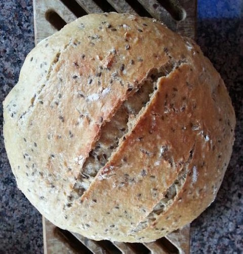 Oatmeal Bread with Flaxseeds from In Erika's Kitchen