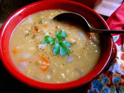 Scottish Red Lentil and Barley Soup from Christina's Cucina