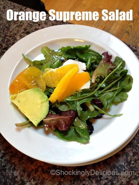Orange Supreme Salad on Shockingly Delicious