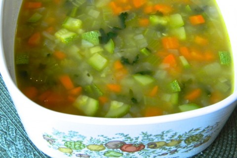 Yellow Split Pea Soup with Veggies from Bumbleberry Breeze