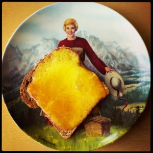 Cheese on Ezekiel Bread for breakfast on Shockingly Delicious