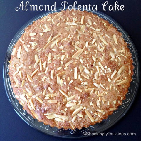 Almond Polenta Cake on Shockingly Delicious