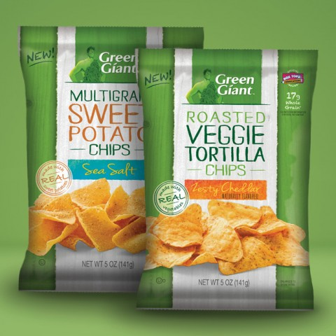 Green Giant Veggie Snack Chips on Shockingly Delicious