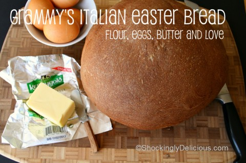 Grammy's Italian Easter Bread on Shockingly Delicious