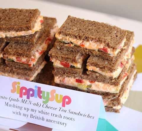 Sippitysup Pimiento Cheese Tea Sandwiches