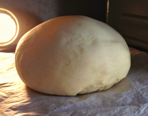 Grammy's Italian Easter Bread in the oven on Shockingly Delicious