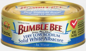 Bumble Bee Very Low Sodium Solid White Albacore