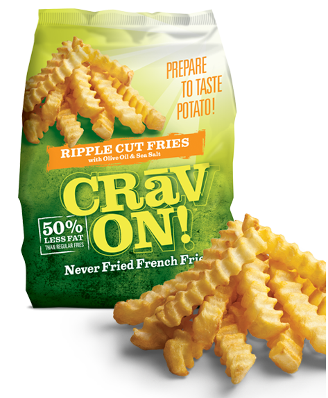 CravOn Ripple Cut Fries on Shockingly Delicious