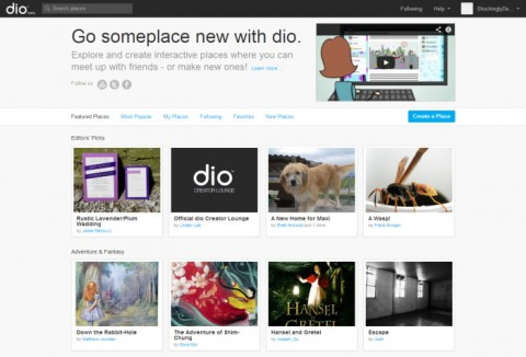 Dio home page