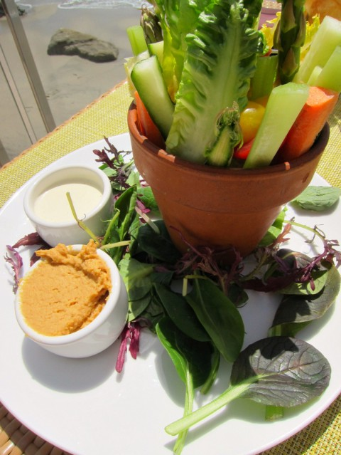 Flowerpot Crudites (Fresh Vegetables) on Shockingly Delicious