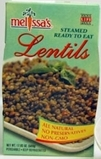 Melissa's Steamed Lentils on Shockingly Delicious
