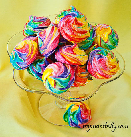 Rainbow-Meringues aka Unicorn Fars from My Man's Belly