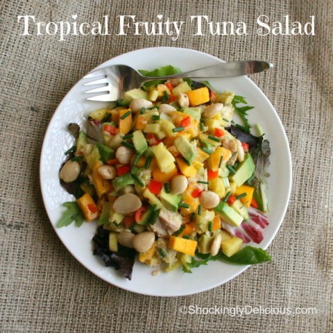 Tropical Fruity Tuna Salad on Shockingly Delicious