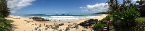 North Shore of Oahu panorama on Shockingly Delicious