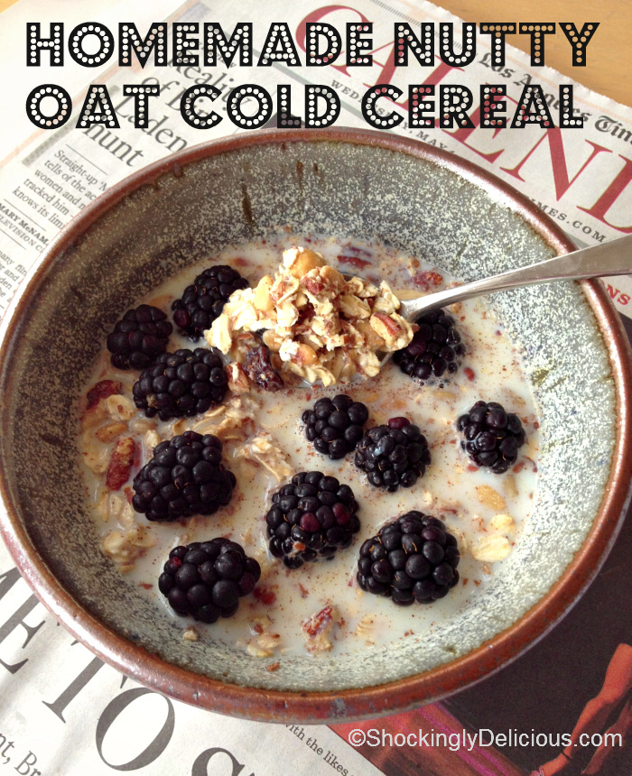 Homemade nutty oat cold cereal shockingly delicious homemade nutty oat cold cereal on shockingly delicious ccuart Images