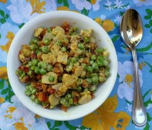 Cold Pea Salad on Shockingly Delicious