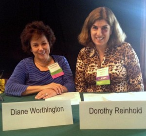 Diane Worthington and Dorothy Reinhold at Camp Blogaway