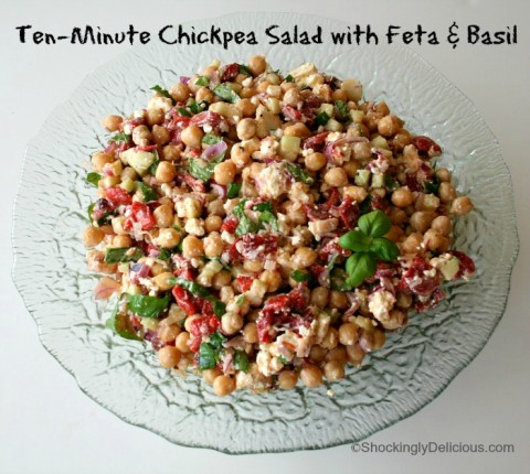 Ten-Minute Chickpea Salad on Shockingly Delicious