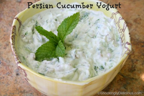 Persian Cucumber Yogurt on Shockingly Delicious