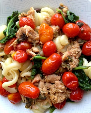 Tuna Tomato Pasta Dinner for Two on Shockingly Delicious