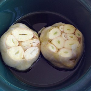 Caramelized Garlic in the Crock-Pot on Shockingly Delicious