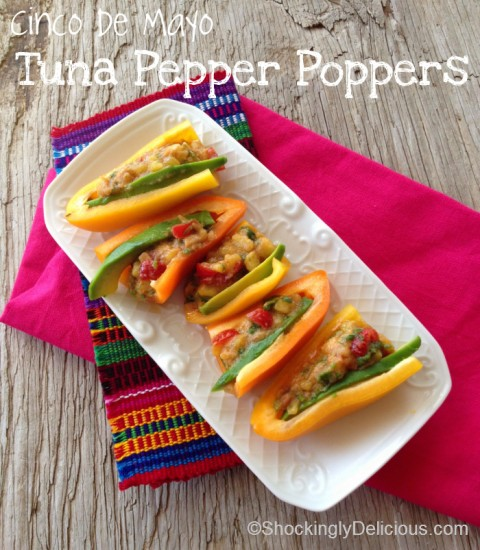 Tuna Pepper Poppers with Avocado and Pineapple on Shockingly Delicious
