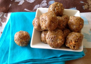 No-Bake Peanut Butter Chia Seed Protein Bites on Shockingly Delicious