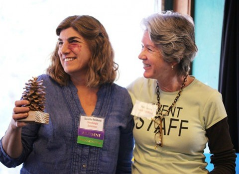 Dorothy Reinhold of Shockingly Delicious wins Golden Pine Cone Award at Camp Blogaway 2013